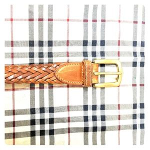 Accessories - Brown weaved vintage leather belt